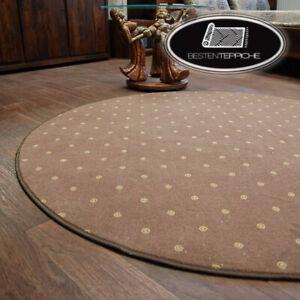 Dettagli su Rotondo Lunga Durata Moderno Pavimento Tappeto \'Chic\' Braun  Grande Misure! su
