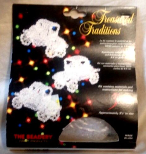 """each Treasured Traditions 3 Autos Ornaments The Beadery 3.5/"""" approx"""