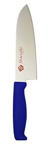 FUJI CUTLERY Staccato MAllybdenum Vanadium Steel Santoku Knife 170mm bleu SC721
