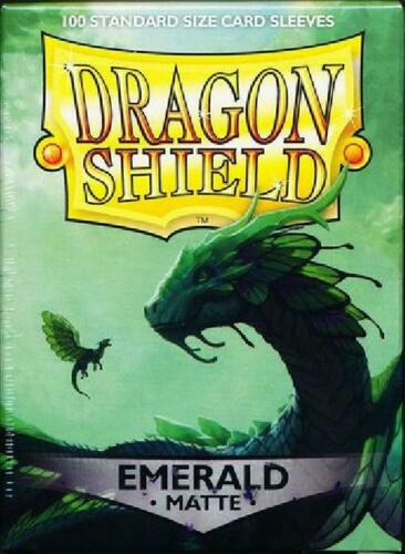 new AT-11036 Dragon Shield Emerald Matte 100ct Standard Sized Sleeves