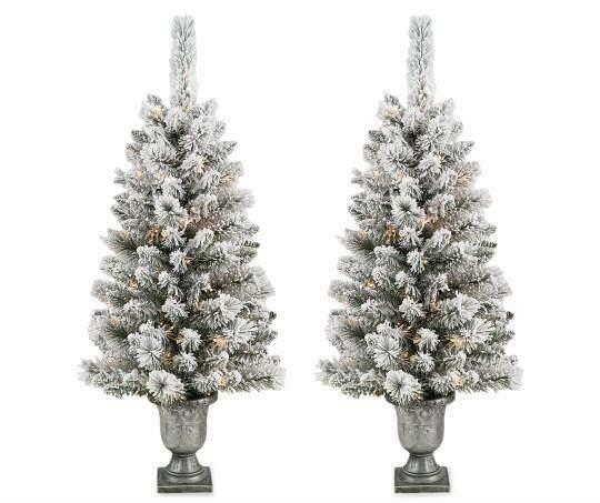 Pre Lit Bronze Conical Christmas Trees