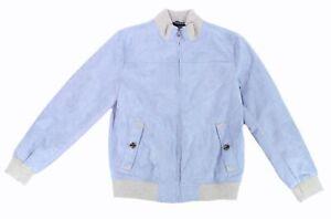 Tasso-Elba-Men-Jacket-Blue-Gray-Cement-Size-Medium-M-Maldena-Faux-Suede-120-226