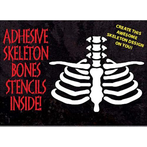 Skeleton Bones Halloween Day of the Dead Makeup Kit Special FX Halloween Makeup
