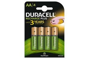 4 x Duracell AA Rechargeable Batteries - 1300 mAh PRE/ STAY CHARGE - HR6 4 Pack 5000394039247