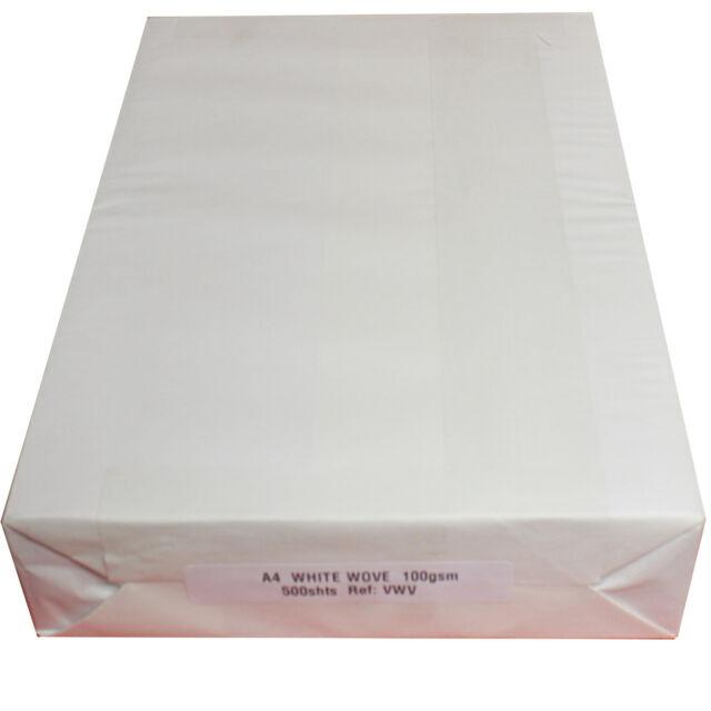 White Wove 100gsm A4 Viking Bond Business Paper 500 Sheets VWV F5K
