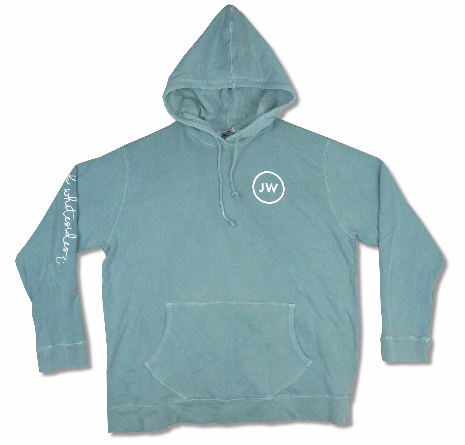Jacob Whitesides JW Logo Teal Green Pull Over Sweatshirt Hoodie New Official