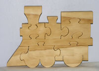 Train Engine Puzzle - Hand Cut From Pine