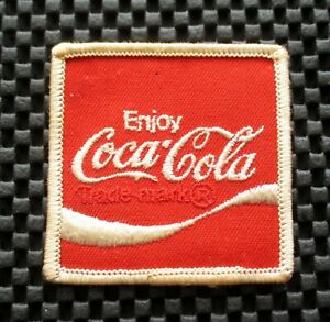 COCA-COLA-EMBROIDERED-PATCH-BEVERAGE-SOFT-DRINK-COLLECTIBLE-2-1-2-034-x-2-1-2-034