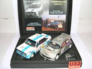 Scalextric Passion Sp028 Grönholm Jambes Fiat 131 Abarth # 18 Peugeot 206 Wrc # 10