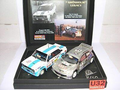 Scalextric Passion Sp028 GrÖnholm Ältere Fiat 131 Abarth #18 Peugeot 206 Wrc #10 Crease-Resistance Spielzeug Elektrisches Spielzeug