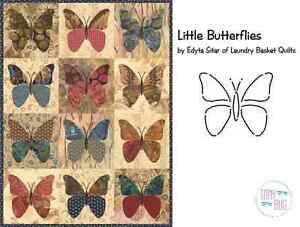 Little Butterflies Applique Quilt Pattern & Stencil ~ Edyta Sitar ... : butterfly applique quilt - Adamdwight.com