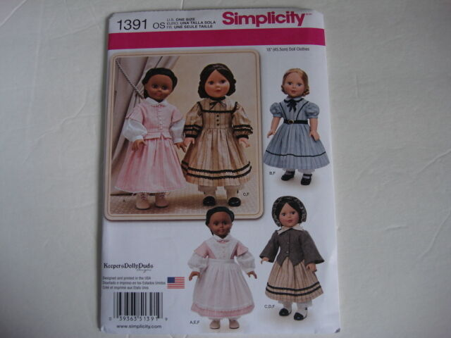 Simplicity 1391 Sewing Pattern Doll Clothes For 18 Dolls Ebay