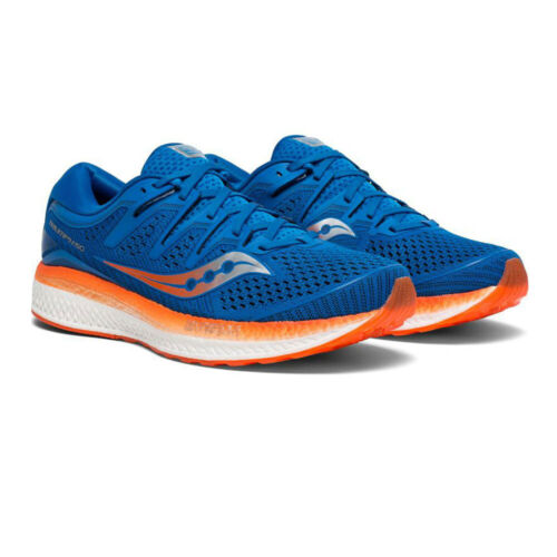 Saucony Mens Triumph ISO 5 Running Shoes Trainers Sneakers Black Orange Sports