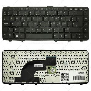 Teclado-Espanol-para-HP-Probook-640-G1-Negro-con-marco-con-Pointstick