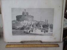 Vintage Print,ST.ANGELO,Rome,Francis Wey,1872
