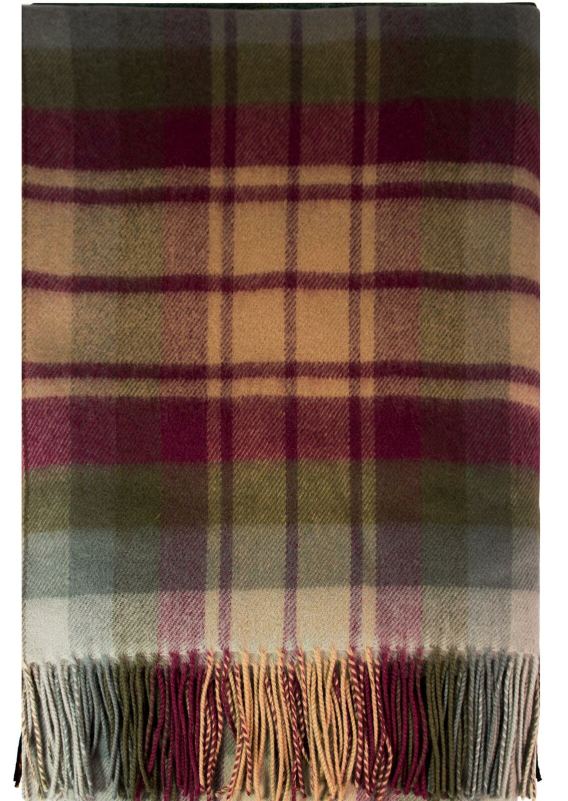 Auld Scozia Tartan Moderno Lusso LANA D'AGNELLO COPERTA 185cm x 140cm