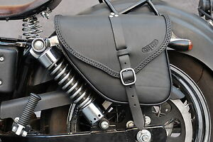 SADDLE BAG FOR HARLEY DAVIDSON DYNA MODELS ITALIAN LEATHER HANDMADE