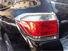 For Toyota Highlander 2011 2012 2013 Chrome Rear Tail Light Lamp Cover Trim 2pcs