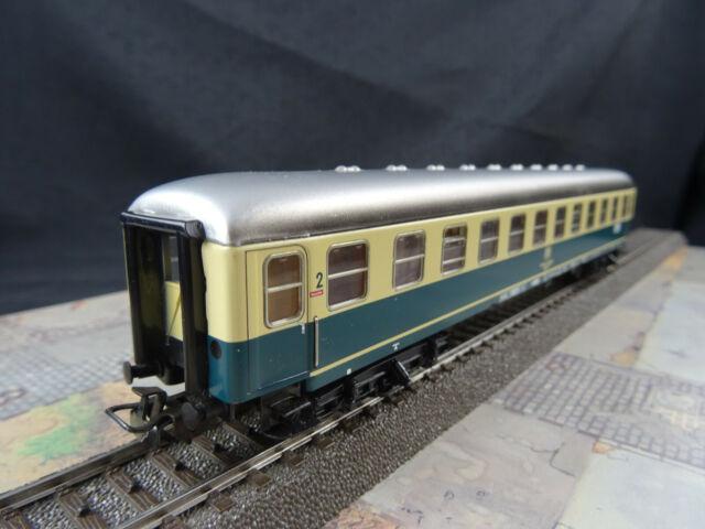Märklin HO 4112 Schnellzugwagen 2. Kl. Blau Beige IPim102 Sehr Guter Zustand OVP