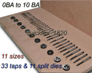 0-BA-10-BA-COMPLETE-TAP-amp-DIE-SET-GREAT-FOR-STUART-TURNER-STEAM-RESTORATIONS