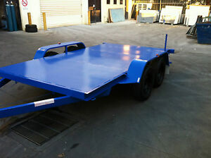 Brand-New-Flat-bed-Car-Trailer-Tandem-axle-12FT-2T-USE4-RACE-FORD-HOLDEN-QUADS