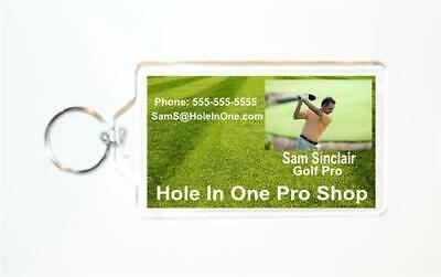 """2x3/"""" pack of 10 Acrylic Photo Snap-in Key Chain"""