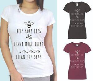 Environment T-shirt Save The Bees T-Shirt Slogan T-shirt