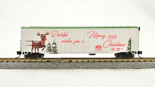 N Con-Cor 2018 Christmas car Rudolph Reindeer, wo//track 1-006097 RTR