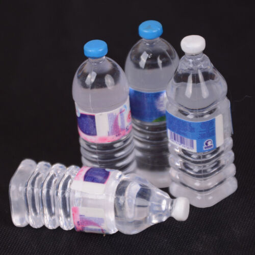 2pcs Bottle Water Drinking Miniature DollHouse 1:12 Accessory Collection DecorSL