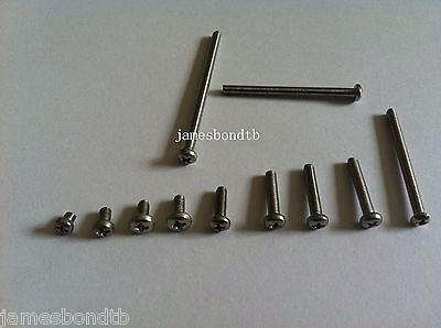 100pcs Metric M2.5 304 Stainless Steel Cross Recessed Phillips Pan Head Screws