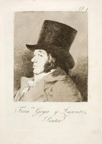 Three Self Portraits 3 Fine Art Prints Goya Etchings /& Drawings