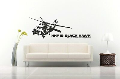 Military Helicopter Apache Attack Army vinyl Sticker Decal Wall Room Video Game