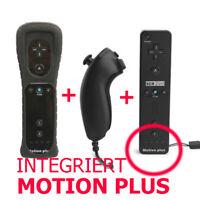 Remote Controller Motionplus Nunchuk Hülle Für Nintendo Wii Konsole Blk