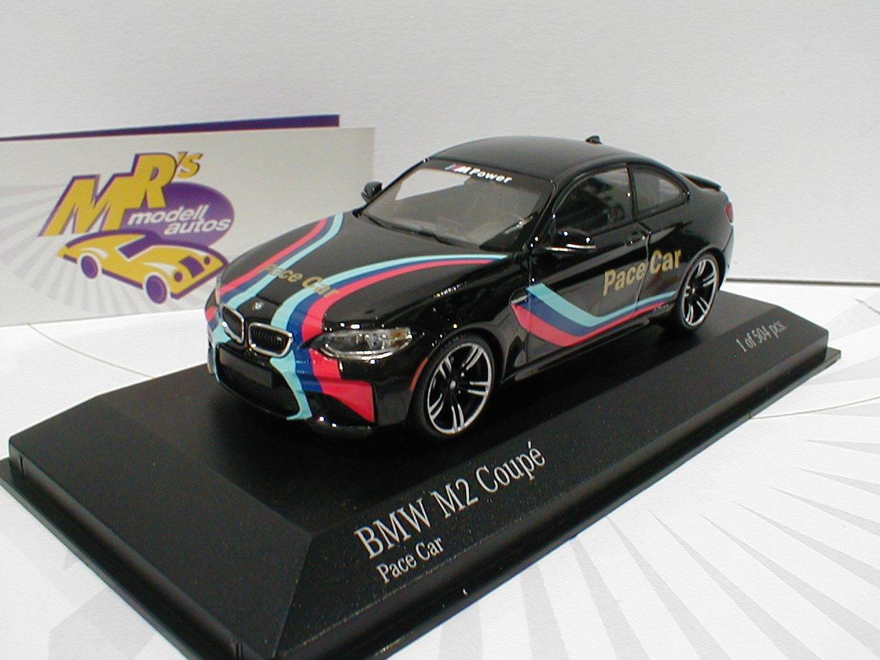 Minichamps 410026102-BMW m2 COUPE NERO  PACE CAR 2016  1 43 BERLINA ED. 504