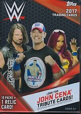 2017 Topps WWE Wrestling New Trading Cards Retail 71ct. Value/Blaster Box
