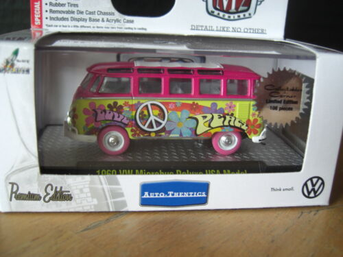 M2 Machines 1960 VW Hippie bus Deluxe USA Model Super Chase Pink 164 Diecast