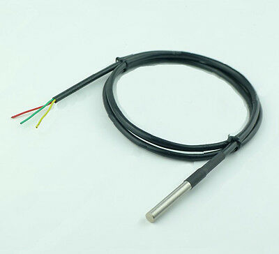 2x DS18B20 100cm Waterproof NEW Arrival  stainless steel Probe or Sensor