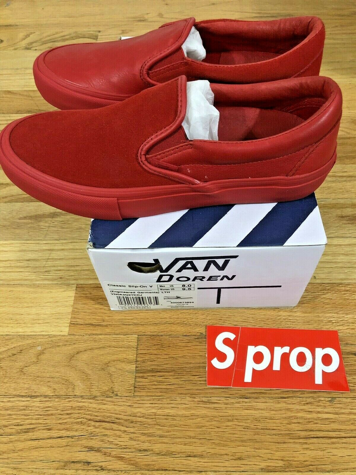 BRAND NEW Engineered Engineered Engineered Garments Vans Slip On RED Size 8 US VN0A3QXYKDJ 146aef