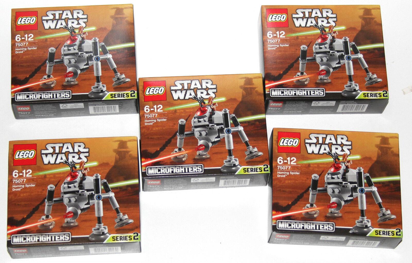 5 x Lego 75077 75077 75077 Star Wars Homing Spider Droid (neuf scellé) 5da071