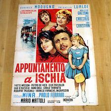 APPUNTAMENTO A ISCHIA poster manifesto affiche Domenico Modugno Mina 1960