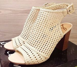 13ad6730177191 NEW  Sam Edelman Evie Ivory Perforated Ankle Strap Open Toe Sandals ...