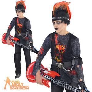image is loading rock zombie costume boys halloween punk rocker fancy - Halloween Punk Costume
