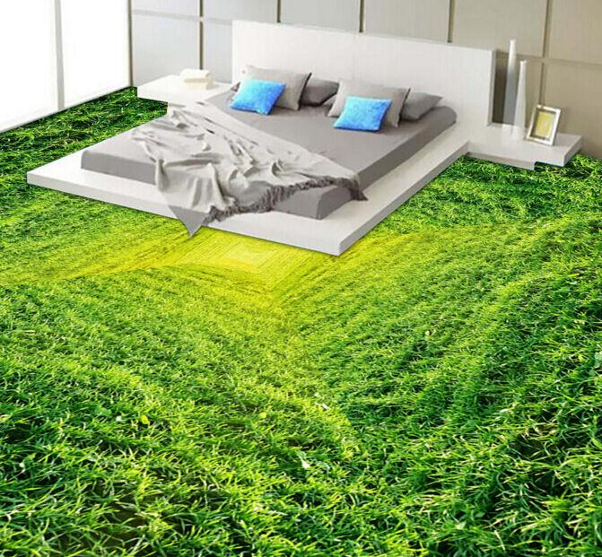 3D Green leaf vortex 364 Floor WallPaper Murals Wall Print Decal 5D AJ WALLPAPER