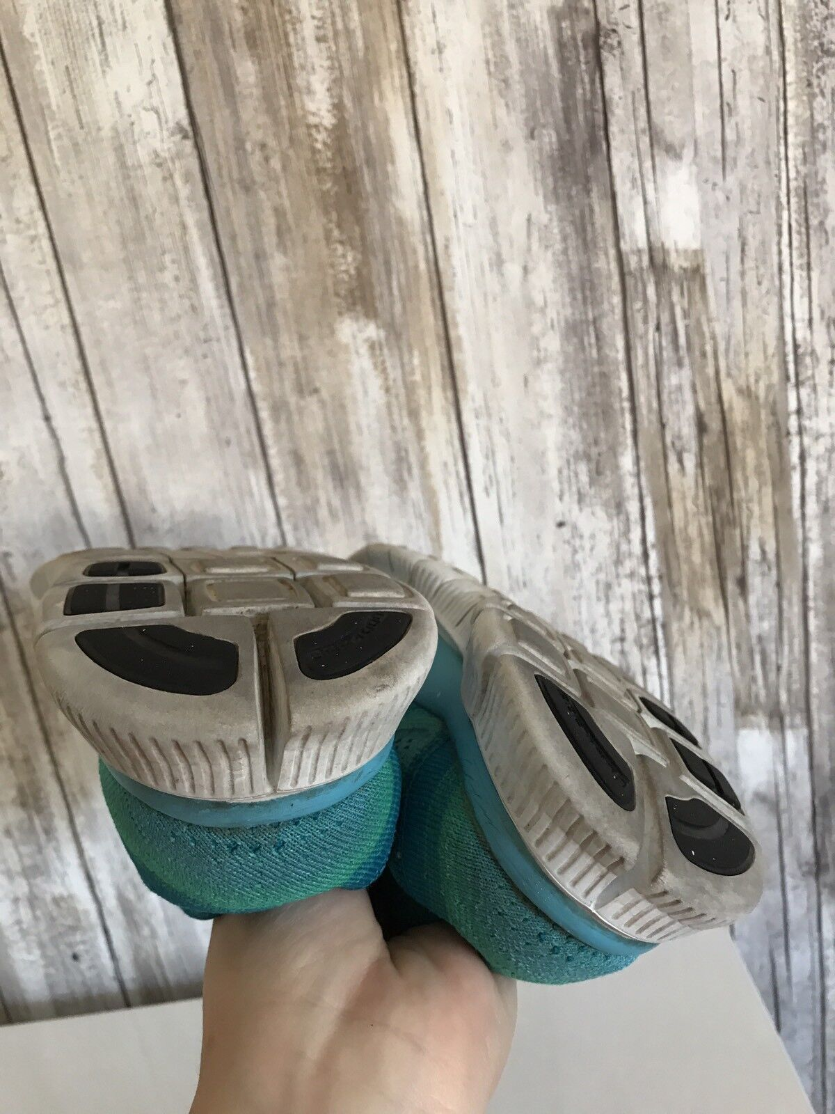 NIKE Free Free Free Run 5.0 Flyknit Running Sneaker shoes 7.5 Teal bluee Turquoise 23439a