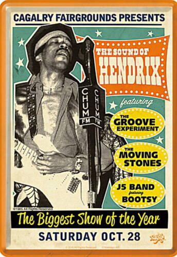 Blechpostkarte Jimi Hendrix 10 x 14,5 cm