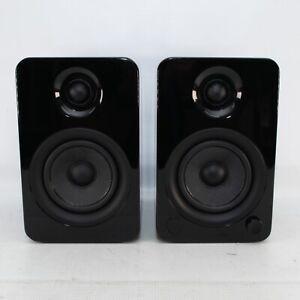 Kanto YU4 - Powered Speakers - Bluetooth + Phono Preamp, Piano Black