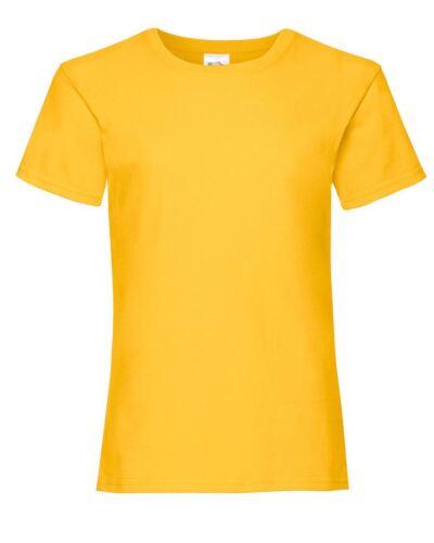 FRUIT Of The Loom Girl/'s Valueweight T-shirt girocollo bambini Tee Shirt tinta unita cotone