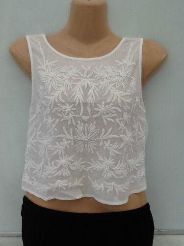 New Ladies Ex Topshop Summer Festival Yellow Floral Crop Top T-shirt Sleeveless