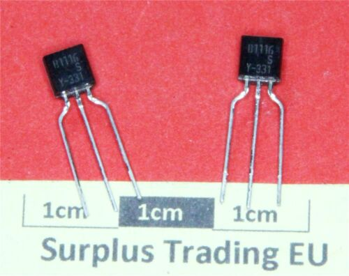 KSB1116SY PNP Small Signal Transistor 50V 1A TO-92 Pk of 4
