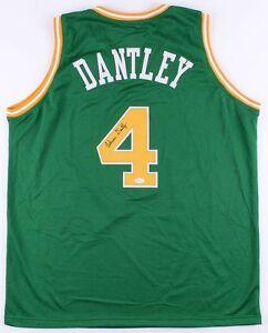 5f297987b2d32 Adrian Dantley Signed Utah Jazz Jersey (JSA Hologram) # 4 retired by ...